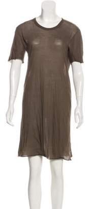 Rick Owens Short Sleeve Mini Dress Olive Short Sleeve Mini Dress