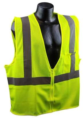 US2LM19 Class 2 Mesh Safety Vest - Yellow/Lime - XL, 100% Mesh Polyester Material By Full Source