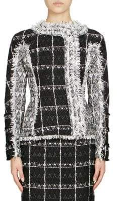 Roland Mouret Bellasis Diamond Checkweave Jacket
