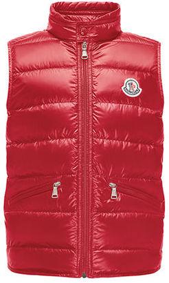 Moncler Gui Down Puffer Vest, Size 8-14 $275 thestylecure.com