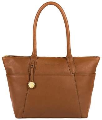 Eton Pure Luxuries London - Tan 'Eton' Leather Handbag With Gold-Coloured Detailing