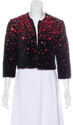 Naeem Khan Embellished Shearling Jacket