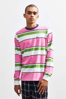Lazy Oaf Pink + Green Stripey Long Sleeve Tee