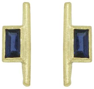 Tate Large Baguette Sapphire Stud Earrings