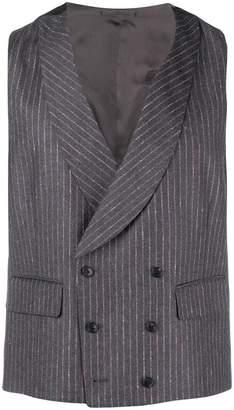 Gabriele Pasini striped double breasted waistcoat