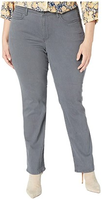 NYDJ Plus Size Plus Size Marilyn Double Snap Waistband in Vintage Pewter