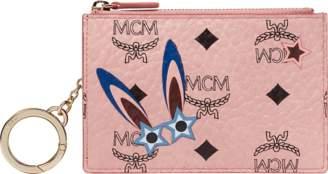 MCM Star Eyed Bunny Keycase In Visetos