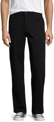 Arizona Mens Straight Fit Flat Front Pant