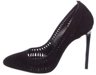 Tom Ford Perforated Suede Pumps