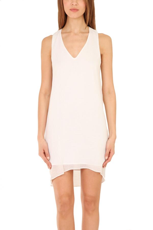 Helmut Lang Side Drape Dress