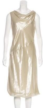 Giorgio Armani Metallic Silk Dress w/ Tags