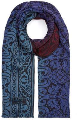 Liberty London Pavillion 70 x 180cm Merino Wool-Blend Scarf