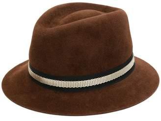 Lanvin embellished mesh chain hat