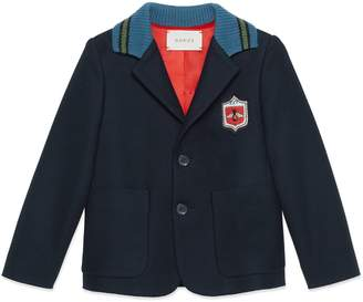 Gucci Children's cotton jacket with crest