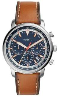 Fossil Chronograph Goodwin Light Brown Leather Strap Watch
