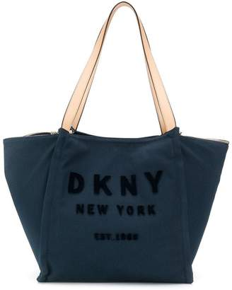 DKNY raised logo tote
