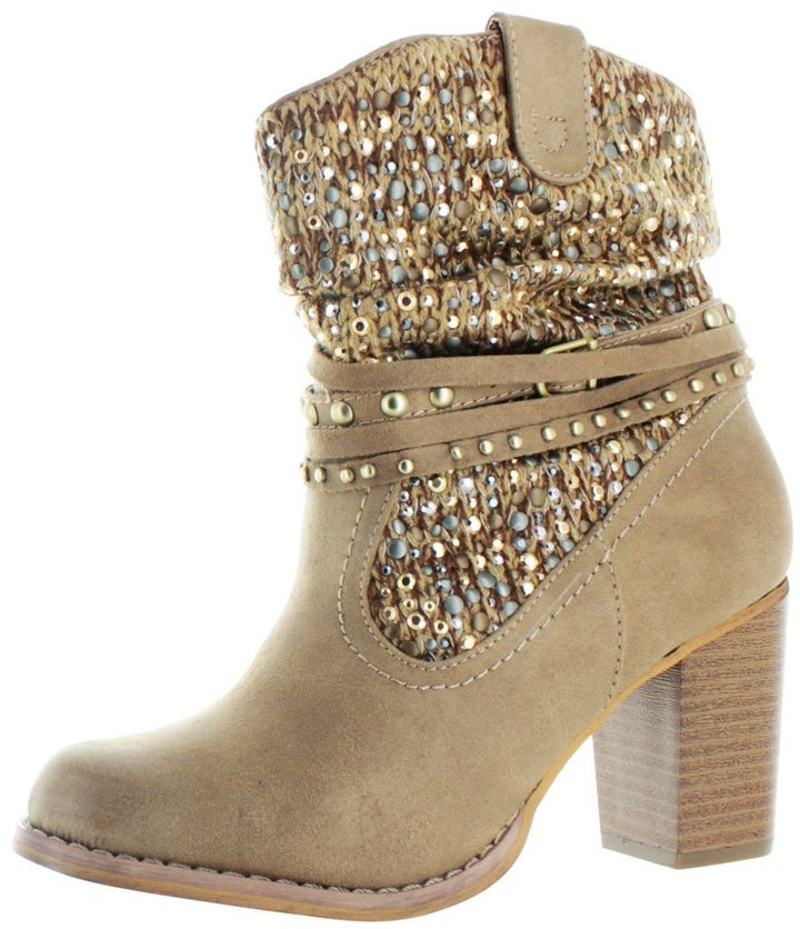 Not Rated By Naughty Monkey Women's Techno Western Ankle Booties Boots