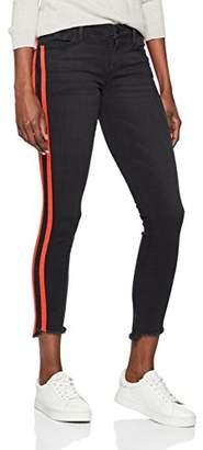 True Religion Women's Halle RED Stripe Black Denim Skinny Jeans, 1001, 26W x 32L