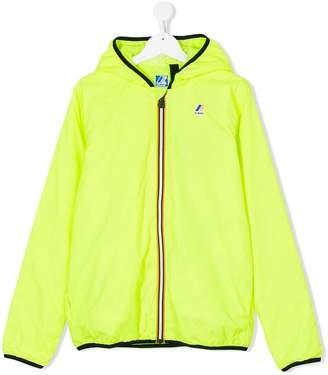 K Way Kids TEEN logo hooded jacket