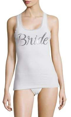 Betsey Johnson Bridal Lace Trimmed Tank Top