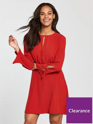 MANGO Cut Out Detail Dress - Red