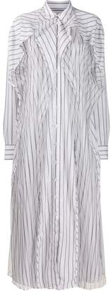 Y/Project tulle-panel striped dress