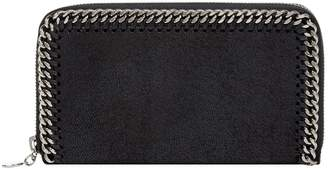 Stella McCartney Falabella Zip-Around Shaggy Deer Wallet