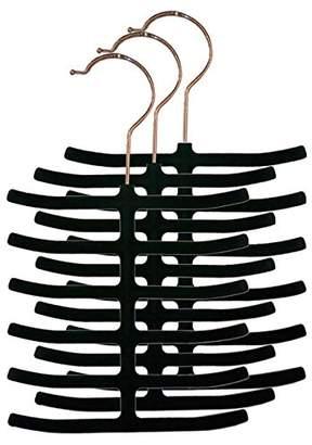 Home Basics 3-Pack Velvet Tie Hanger