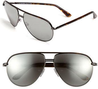 Women's Tom Ford 'Cole' 61Mm Sunglasses - Gun/ Grey