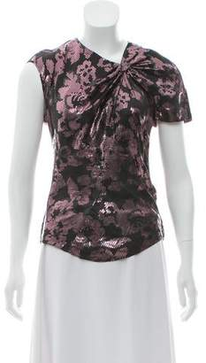 Isabel Marant Metallic Brocade Silk Top