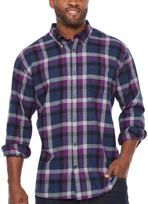 Co THE FOUNDRY SUPPLY The Foundry Big & Tall Supply Mens Long Sleeve Flannel Shirt Big and Tall