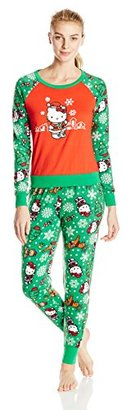 Hello Kitty Women's Ugly Holiday Pajama Set $58 thestylecure.com