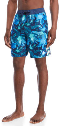 adidas Hibiscus Print Swim Trunks