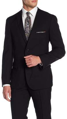 Paisley & Gray Black Solid Two Button Notch Lapel Slim Fit Suit Separates Jacket