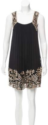Nicole Miller Sequin-Accented Silk Dress