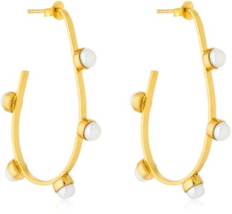 Cornelia Webb Pearled Hoop Earrings
