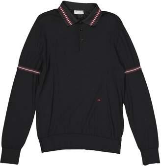 Christian Dior Black Polyester Polo shirts