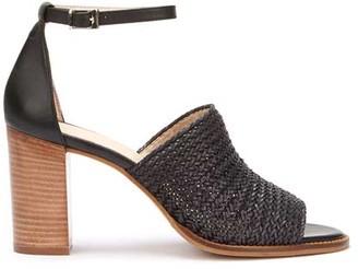 89c0adf3198 Mint Velvet Layla Black Woven Heel Sandal