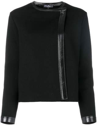 Salvatore Ferragamo trimmed jacket