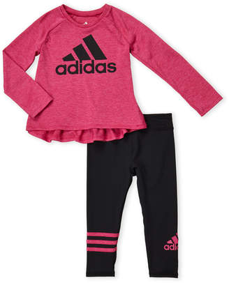 adidas Toddler Girls) Two-Piece Long Sleeve Tee & Leggings Set