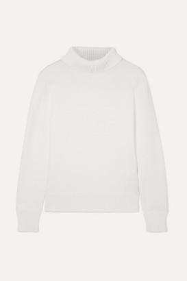 Simon Miller Doria Cotton-blend Turtleneck Sweater - White