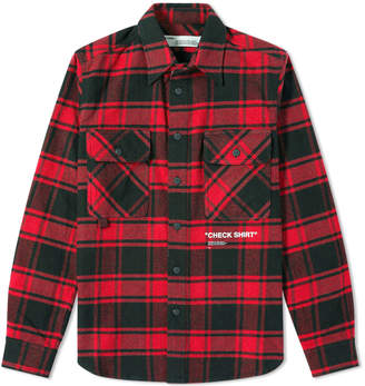 Off-White Off White Quote Flannel Shirt