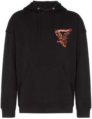 Givenchy embroidered branding hooded jumper