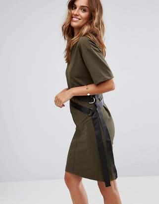 Asos Design D-Ring Detail T-Shirt Dress