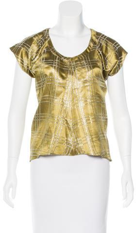 MarniMarni Metallic Patterned Top
