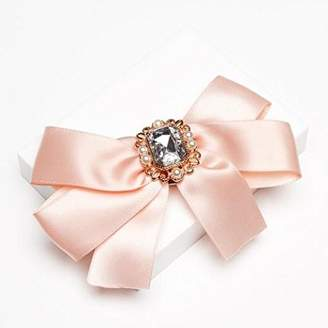 Johnny Loves Rosie Women Pink Glass Clip Sophia Blush Jewelled Hair Bow