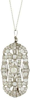 Diamond Art Deco Convertible Pendant Necklace
