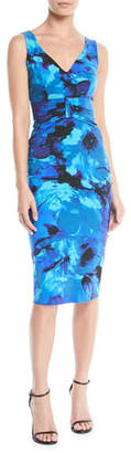 Chiara Boni Claudetta V-Neck Floral-Print Sheath Dress