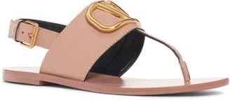 Valentino Logo Buckle Thong Sandal