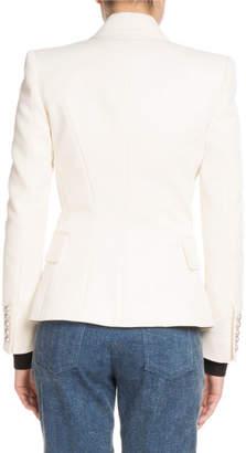 Balmain Classic Button-Front Blazer